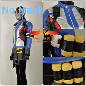 OW Overwatch Soldier 76 Female Version PU Leather Cosplay Costume For Adult Women Halloween Carnival
