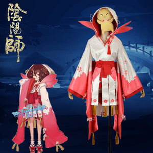 Onmyoji Peach Blossom Banshee Fancy Kimono Outfit Cosplay Costume For Adult
