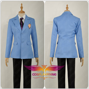 Ouran High School Host Club School Haruhi Kyoya Hikaru Takashi Jacket+Tie Only Cosplay Costume