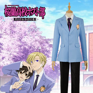 Ouran High School Host Club School Haruhi Kyoya Hikaru Takashi Uniform Cosplay Costume