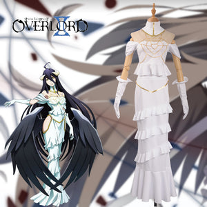 Overlord Albedo Cosplay White Dress Sexy Mermaid Dress Cosplay Costume