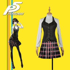 Persona 5 Queen Makoto Niijima Female Outfit Academy Uniform Cosplay Costume