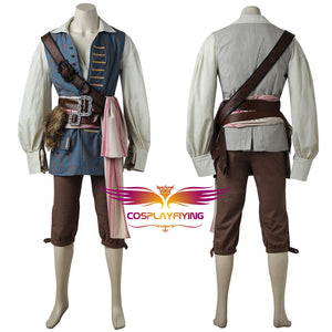 Pirates of the Caribbean: Dead Men Tell No Tales/Salazar's Revenge Jack Sparrow Cosplay Costume Halloween