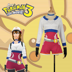 Pokemon Go Blue Trainers Female Version Halloween Cosplay Costume For Adult with Hat