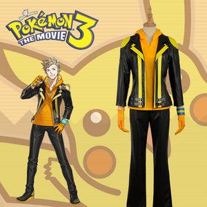 Pokemon Go Team Instinct Spark Cosplay Yellow PU Costume Adult Men For Halloween Carnival