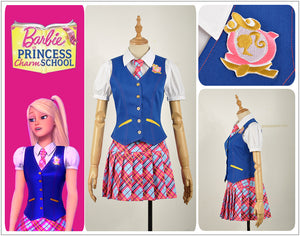 Princess Charm School Barbie Princess Sophia Party Dress Blair Willows School Uniform Adult Cosplay Costume Clothing Outfit
