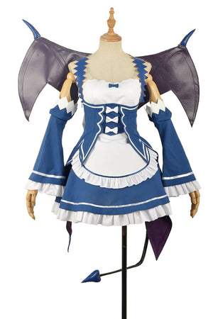 Re:Zero/Re:Life in a Different World from Zero Rem Blue Adult Women Dress Maid Outfit Cosplay Costume