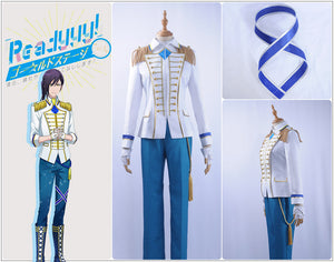 Readyyy SP!CA Cos Azusa Konno Cosplay Costume Men Jacket Pants Shirt Leggings Academy Uniform Yellow Tie Gloves