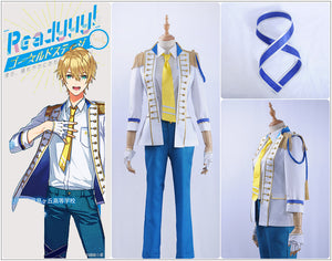 Readyyy SP!CA Mitsuki Kuze Cosplay Costume White Long Sleeve Jacket Outfit Academy Uniform