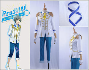 Readyyy SP!CA Takumi Kurumizawa Cosplay Costume Male White Jacket Outfit Academy Uniform Tie Gloves Leggings
