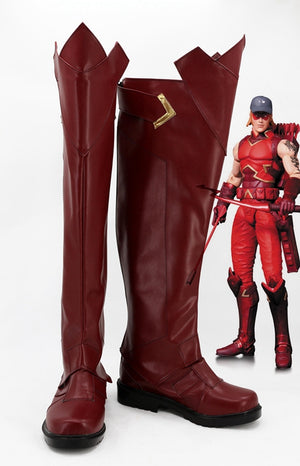 Red Arrow Arsenal Roy Harper Cosplay Shoes Boots Custom Made for Adult Men and Women