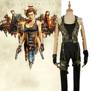 Resident Evil: The Final Chapter Alice Cosplay Costume Battle Suit Outfit Full Set