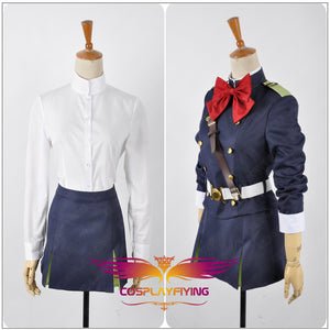 Seraph of the End Mitsuba Sangu Cosplay Costume Custom Adult Women Military Uniform