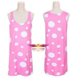 Solar Opposites Jesse Pink Dress Cosplay Costume for Halloween Carnival Outfit