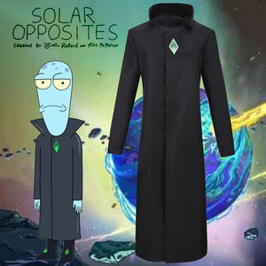 Solar Opposites Korvo Black Uniform Cosplay Costume for Halloween Carnival Outfit
