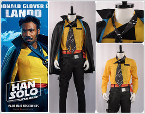 Lando Calrissian Costume Solo: A Star Wars Story Cosplay Costume Halloween Adult Outfit