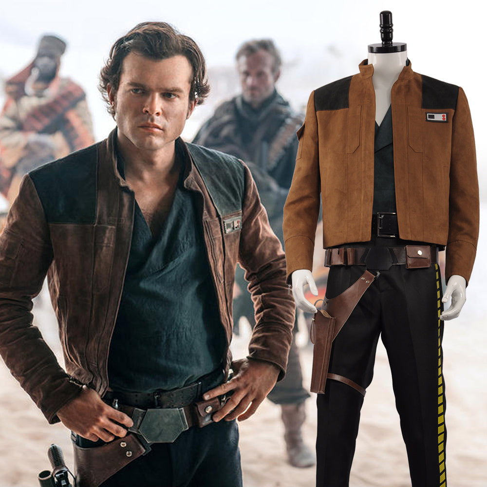 Exclusive Star Wars Han Solo Cosplay Costume Full Suit Custom Size
