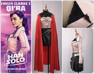Solo: A Star Wars Story Qi'ra Cosplay Costume Women Cosplay Costume Halloween Adult Outfit