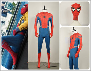 Marvel Spider-Man: Homecoming Peter Benjamin Parker Avengers Spandex Adult Halloween Cosplay Costume Spandex Spiderman Jumpsuit with Gloves Mask