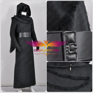 Star Wars 7 : The Force Awakens Kylo Ren Adult Black Jedi Cosplay Costume Halloween Party