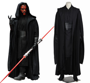 Star Wars Darth Maul Jedi Knight Cosplay Costume Full Set for Halloween Carnival