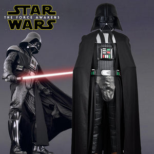 Star Wars The Force Awakens Darth Vader PU Cosplay Costume Custom Made for Halloween Carnival
