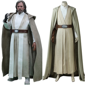 Star Wars: The Last Jedi Luke Skywalker Jedi Knight Battle Robe Adult Men Cosplay Costume Full Set for Halloween Carnival