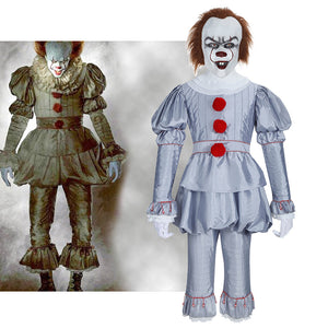 Stephen King's It Joker Pennywise Cosplay Costume Uniform Outfit Cloth For Adult Halloween Carnival