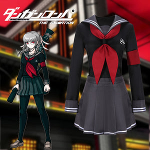 Super Danganronpa 2 Peko Pekoyama Uniform Sailor Suit Cosplay Costume Halloween Carnival