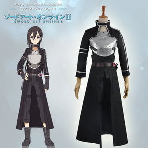 Sword Art Online Phantom Bullet Kazuto Kirito Kirigaya Cosplay Costume Full set Outfit For Adult
