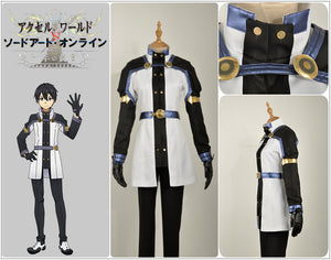 Sword Art Online the Movie: Ordinal Scale Kirigaya Kazuto Kirito Cosplay Costume Adult Men Outfit