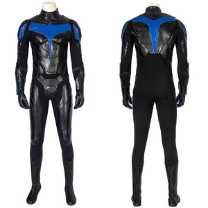 TV Series Titans Season 1 Nightwing Dick Grayson Robin Cosplay Costume Full Set for Halloween Carnival