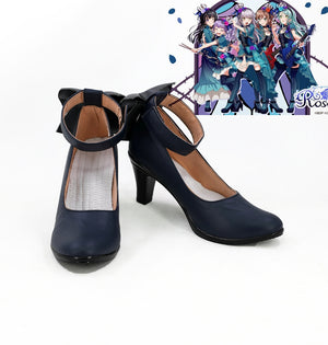 TV Anime BanG Dream! Roselia Cosplay Shoes Boots Custom Made for Adult Men and Women Halloween Carnival
