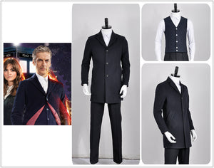 Doctor Who 12th Doctor Peter Capaldi Uniform Cosplay Costume for Adult Men Carnival Halloween