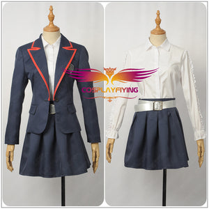 TV Series Elite Junior High School Uniform Blue Female Cosplay Costume Custom Made for Adult Women Carnival Halloween