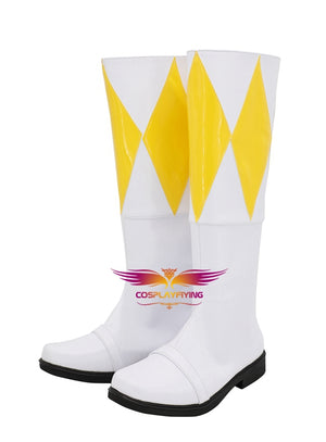 TV Series Mighty Morphin Power Rangers Trini Cosplay Shoes Boots Custom Made for Adult Men and Women Halloween Carnival