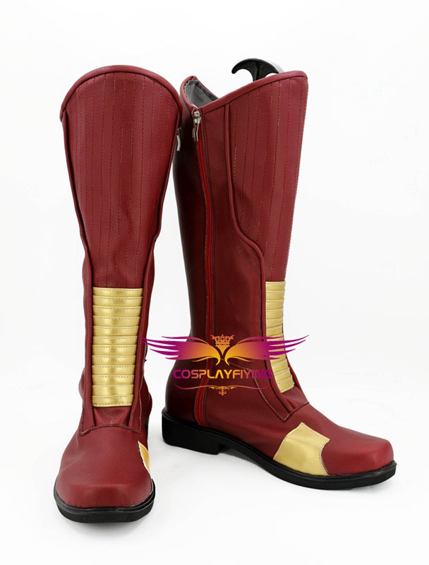 TV Series The Flash Barry Allen Cosplay Shoes Boots Custom Made for Adult Men and Women