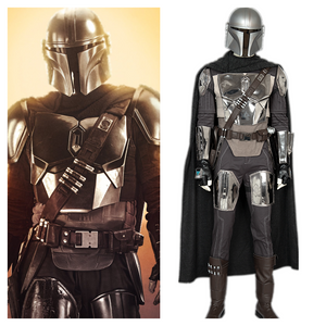 The Mandalorian Star Wars Mandalorian Armor Cosplay Costume Shoes Helmet for Adult Halloween Carnival Party