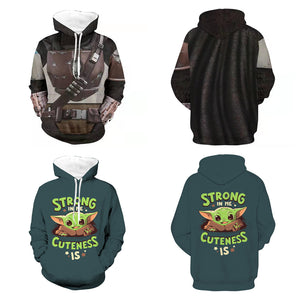 TV Series The Mandalorian Star Wars Mandalorian Armor Long Sleeve 3D Hoodie Unisex Costume for Men Women