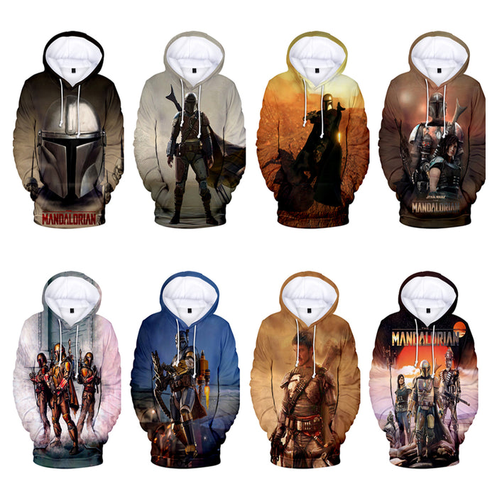 TV Series The Mandalorian Star Wars Mandalorian Armor Long Sleeve 3D Printed Hoodie Men Women Unisex Costume Outwear