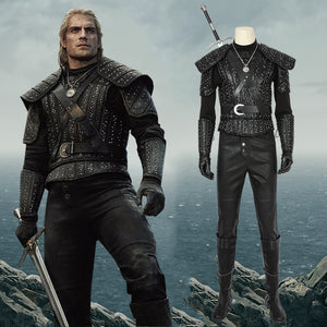 TV Series The Witcher Wild Hunt Geralt Of Rivia Cosplay Costume Full Set Unisex for Halloween Carnival
