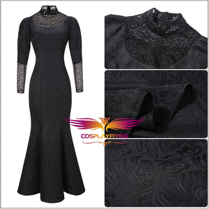 The Witcher Yennefer of Vengerberg Black Dress Mermaid Skirt Cosplay Costume Halloween Carnival Party