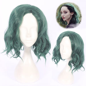 TV Series X-Men The Gifted Polaris Lorna Dane Green Short Curly Wavy Cosplay Wig Cosplay for Girls Adult Women Halloween Carnival