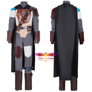 The Mandalorian Soldier Battle Uniform Cosplay Costume for Halloween Carnival Adult Outfit