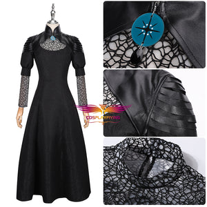 The Witcher Yennefer of Vengerberg Black Dress Cosplay Costume Halloween Carnival Party Version B