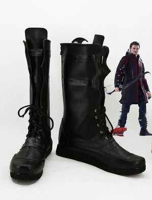 The Avengers Hawkeye Francis Barton Cosplay Shoes Boots Custom Made for Adult Men and Women