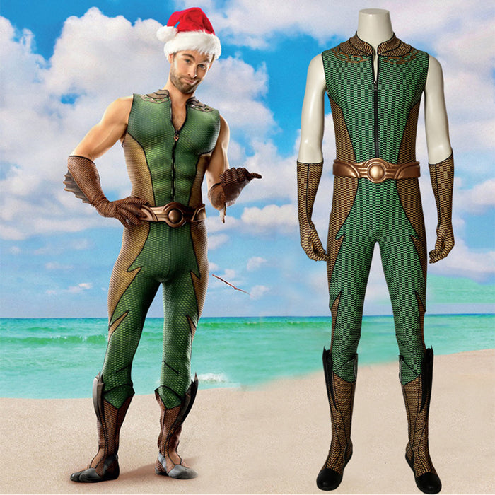 The Boys Season 1 The Deep Kevin Cosplay Costume Jumpsuit Full Set for Halloween Carnival