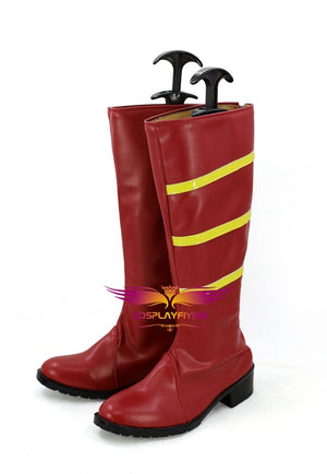The Flash Jesse Quick Cosplay Shoes Boots Custom Made for Adult Men and Women