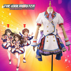The Idolmaster Cinderella Girls Lolita Shimamura Uzuki Sexennial Sixth Anniversary Cosplay Costume Adult Girls Dress
