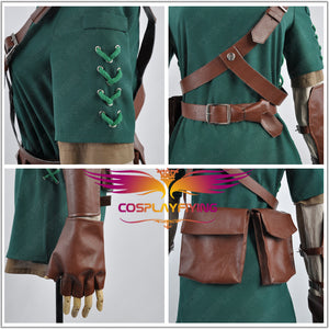 The Legend of Zelda Link Cosplay Hat and Costume Custom Outfit Clothing For Adult